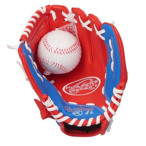 RAWLINGS BOYS PLAYER SERIES 9 INCH BASEBALL GLOVE WITH BALL LEFT HAND THROW