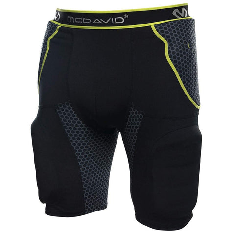 MCDAVID USA 7414 RIVAL BLACK INTEGRATED GIRDLE WITH HARD SHELL THIGH GUARDS