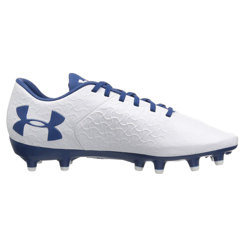 UNDER ARMOUR WOMEN'S MAGNETICO PREMIERE FG WHITE/BLUE SOCCER CLEAT