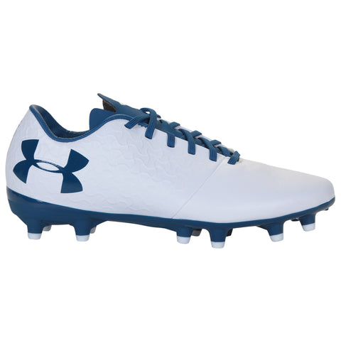 UNDER ARMOUR WOMEN'S MAGNETICO SELECT FG WHITE/BLUE SOCCER CLEAT