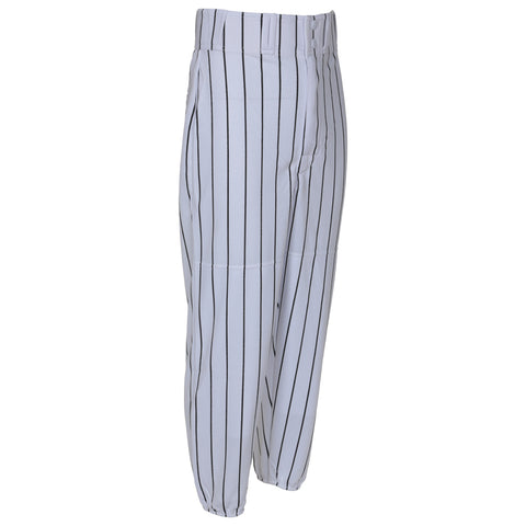 LOUISVILLE JUNIOR WHITE/BLACK LONG BASEBALL PANT WITH ELASTIC ANKLE