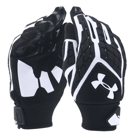 UNDER ARMOUR YOUTH COMBAT FOOTBALL GLOVE WHITE