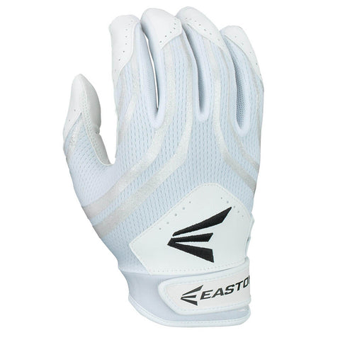 EASTON HF3 WHITE/WHITE FASTPITCH BATTING GLOVES