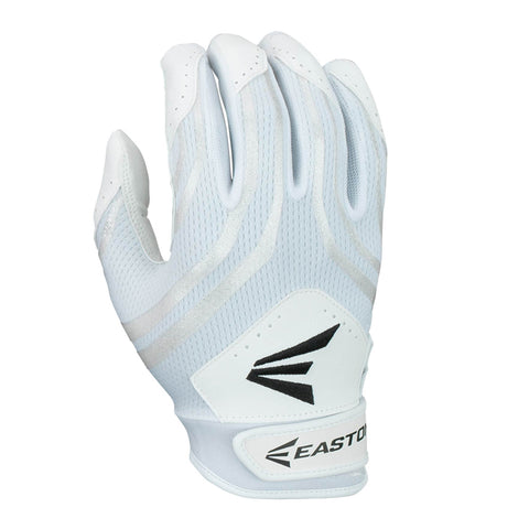 EASTON YOUTH HF3 WHITE/WHITE FASTPITCH BATTING GLOVES