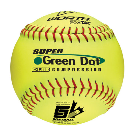 WORTH SUPER GREEN DOT OPTIC 11 INCH SOFTBALL