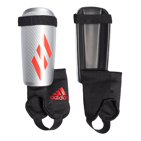 ADIDAS X YOUTH SILVER/RED/BLACK SOCCER SHINGUARD