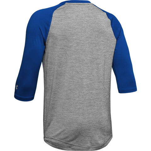 UNDER ARMOUR YOUTH ROYAL 3/4 SLEEVE T-SHIRT BACK