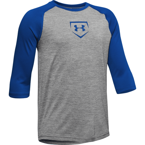 UNDER ARMOUR YOUTH ROYAL 3/4 SLEEVE T-SHIRT
