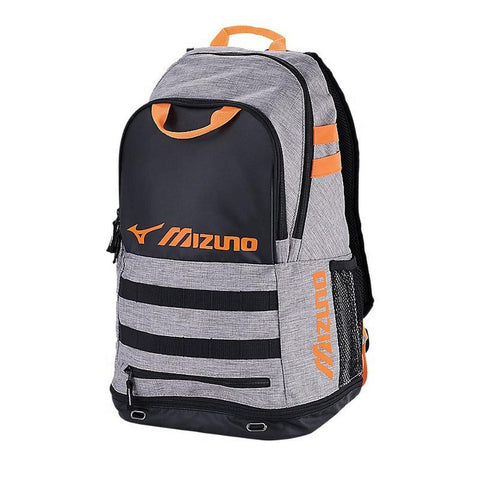 0f7891ecdc9fa MIZUNO TEAM ELITE CROSSOVER BACKPACK GREY/ORANGE ...