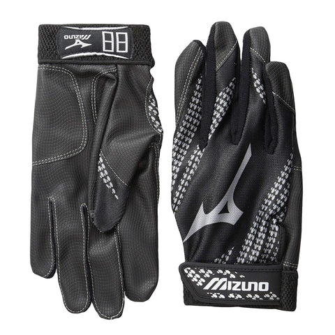 MIZUNO FRANCHISE BLACK BATTING GLOVES