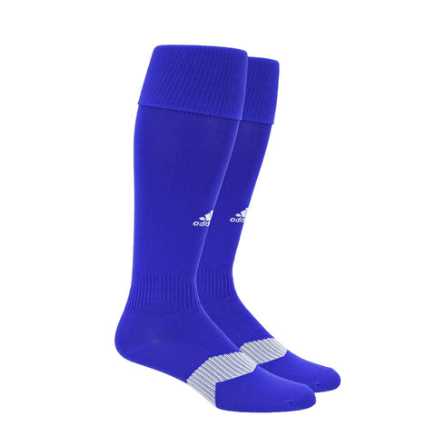 ADIDAS YOUTH METRO IV OTC BOLD BLUE / WHITE / CLEAR GREY SOCCER SOCK (Y12-2)