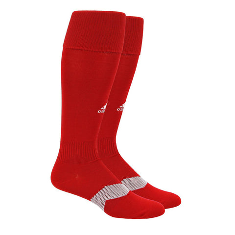 ADIDAS YOUTH METRO IV OTC POWER RED / WHITE / CLEAR GREY SOCCER SOCK (Y12-2)