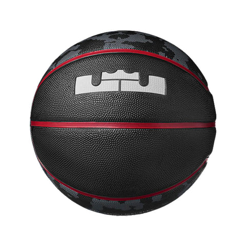 NIKE LEBRON PLAYGROUND 4P BLACK/RED BASKETBALL LEBRON JAMES BALL LOGO