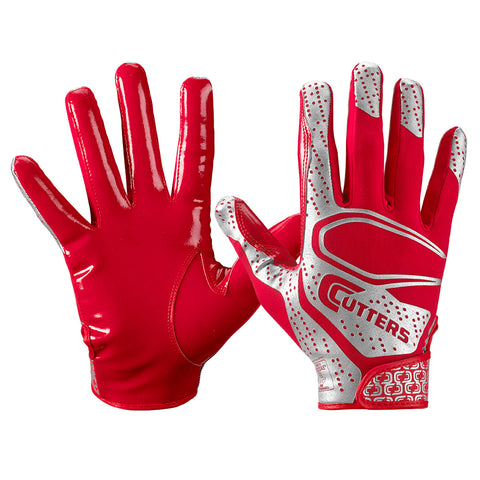 CUTTERS YOUTH S251 REV 2.0 RED FOOTBALL GLOVE