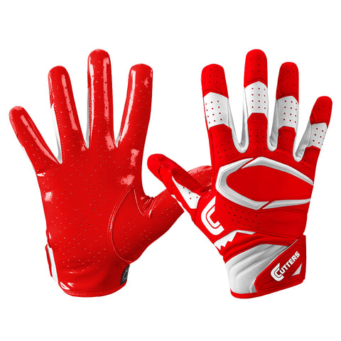 CUTTERS YOUTH S451 REV PRO 2.0 RED FOOTBALL GLOVE