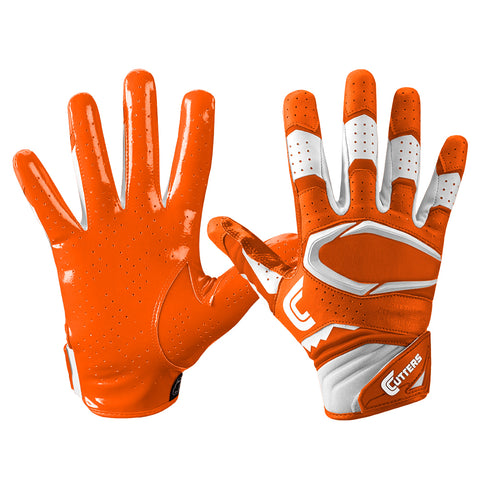 CUTTERS YOUTH S451 REV PRO 2.0 ORANGE FOOTBALL GLOVE