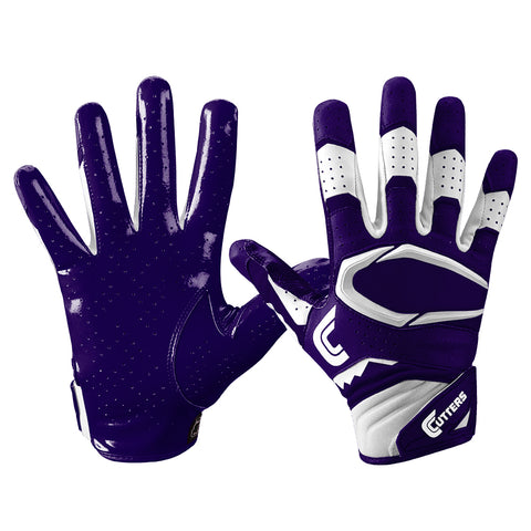 CUTTERS YOUTH S451 REV PRO 2.0 PURPLE FOOTBALL GLOVE