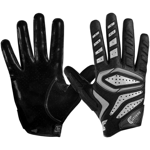CUTTERS YOUTH S651 GAMER 2.0 PADDED RECEIVER BLACK FOOTBALL GLOVE