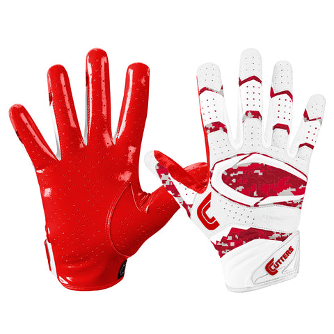 CUTTERS S451 REV PRO 2.0 RED/CAMO FOOTBALL GLOVE