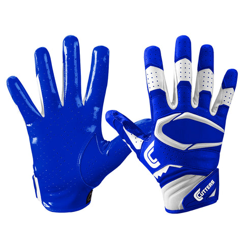 CUTTERS YOUTH S451 REV PRO 2.0 ROYAL FOOTBALL GLOVE