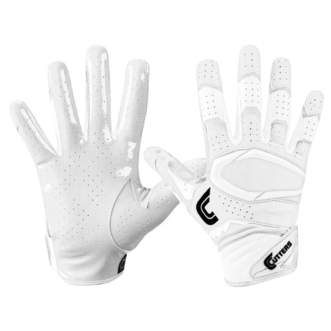 CUTTERS S451-S REV PRO 2.0 SOLID WHITE FOOTBALL GLOVE