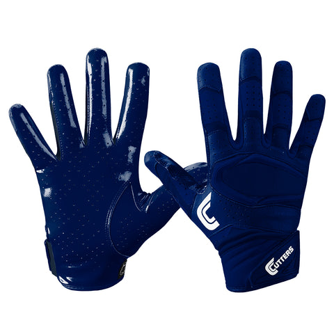 CUTTERS S451-S REV PRO 2.0 SOLID NAVY FOOTBALL GLOVE