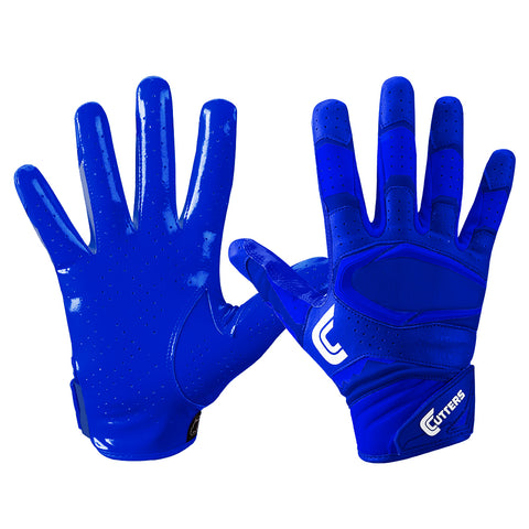 CUTTERS S451-S REV PRO 2.0 SOLID ROYAL FOOTBALL GLOVE