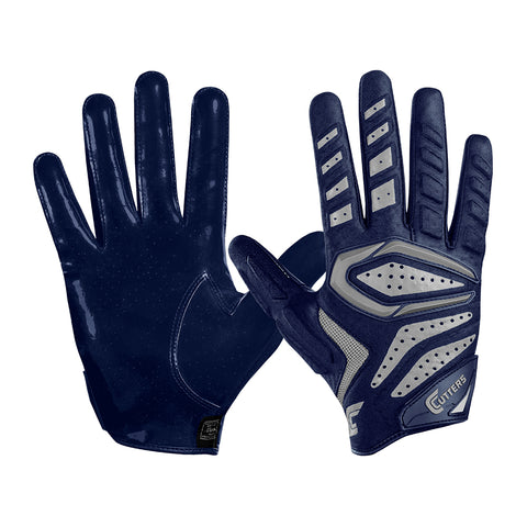 CUTTERS FOOTBALL S651 GAMER 2.0 PADDED RECIEVER NAVY FOOTBALL GLOVE
