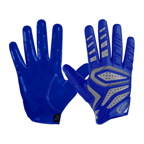 CUTTERS FOOTBALL S651 GAMER 2.0 PADDED RECIEVER ROYAL FOOTBALL GLOVE