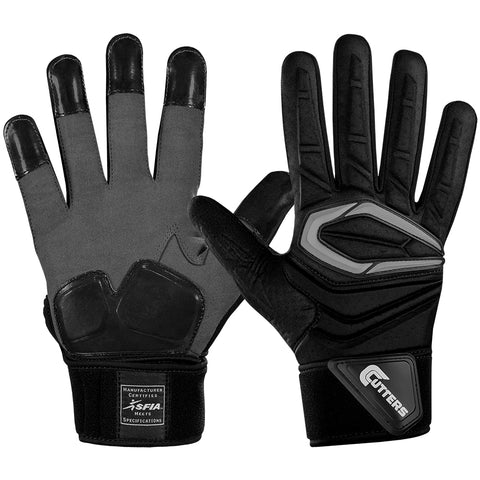 CUTTERS S931 FORCE 2.0 LINEMAN BLACK FOOTBALL GLOVE