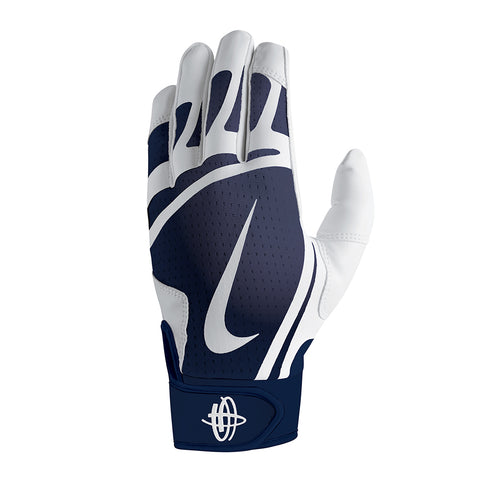 NIKE YOUTH HUARACHE EDGE WHITE/NAVY/WHITE BATTING GLOVES