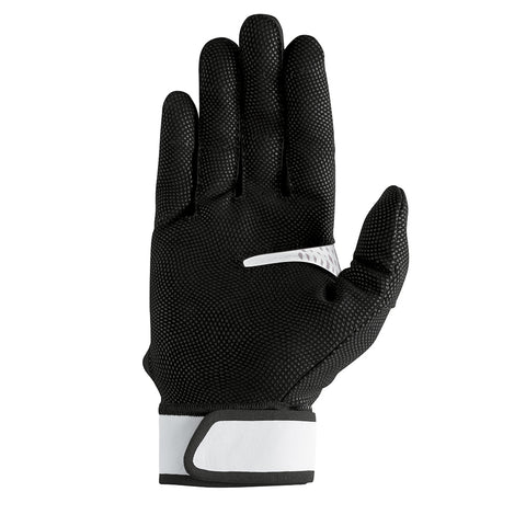 NIKE VAPOR ELITE BLACK/WHITE/SILVER BATTING GLOVES