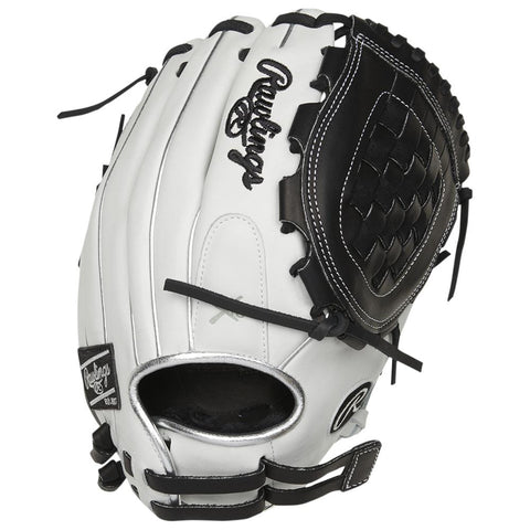 RAWLINGS LIBERTY ADVANCED COLOR SYNC 2.0 12 INCH BASKET WEB WHITE/BLACK FASTPITCH GLOVE RIGHT HAND THROW