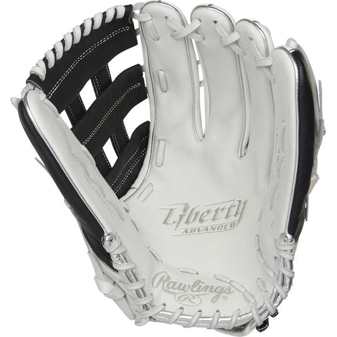 RAWLINGS LIBERTY ADVANCED COLOR SYNC 2.0 13 INCH PRO H-WEB WHITE/BLACK SOFTBALL GLOVE LEFT HAND THROW