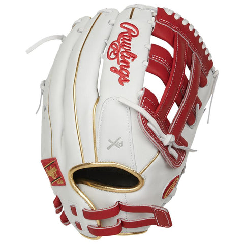 RAWLINGS LIBERTY ADVANCED COLOR SYNC 2.0 13 INCH PRO H-WEB WHITE/RED SOFTBALL GLOVE RIGHT HAND THROW