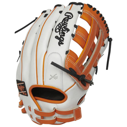 RAWLINGS LIBERTY ADVANCED COLOR SYNC 2.0 13 INCH PRO H-WEB BLACK/ORANGE SOFTBALL GLOVE RIGHT HAND THROW