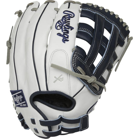 RAWLINGS LIBERTY ADVANCED COLOR SYNC 2.0 13 INCH PRO H-WEB WHITE/NAVY SOFTBALL GLOVE LEFT HAND THROW