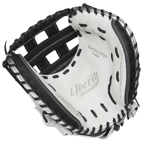 RAWLINGS LIBERTY ADVANCED COLOR SYNC 2.0 33 INCH PRO H-WEB WHITE/BLACK CATCHERS MITT RIGHT HAND THROW
