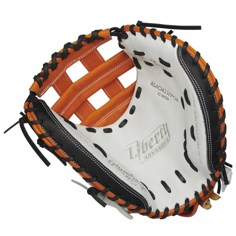 RAWLINGS LIBERTY ADVANCED COLOR SYNC 2.0 33 INCH PRO H-WEB BLACK/ORANGE CATCHERS MITT RIGHT HAND THROW