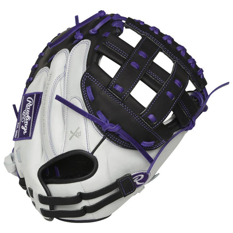 RAWLINGS LIBERTY ADVANCED COLOR SYNC 2.0 33 INCH PRO H-WEB WHITE/PURPLE CATCHERS MITT RIGHT HAND THROW