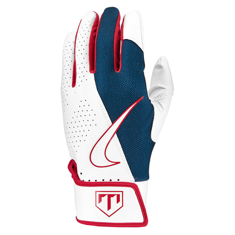 NIKE YOUTH TROUT EDGE 2.0 WHITE BATTING GLOVE