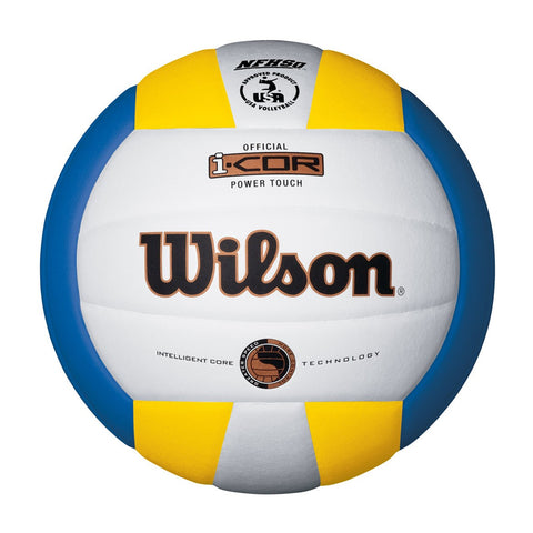 WILSON I-COR POWER TOUCH YELLOW/WHITE/BLACK VOLLEYBALL