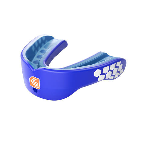 SHOCK DOCTOR JR GEL MAX POWER BLUE CONVERT MOUTHGUARD