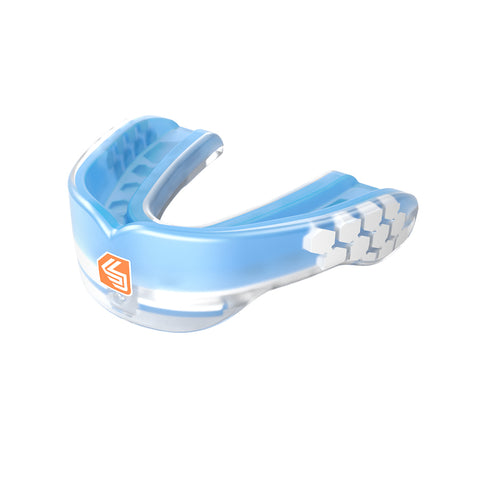 SHOCK DOCTOR SR GEL MAX POWER TRANSLUCENT BLUE CONVERT MOUTHGUARD