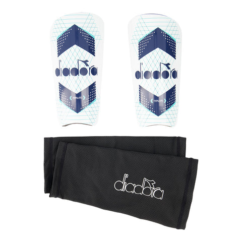 DIADORA TOP MATCH WHITE/BLUE SHINGUARD