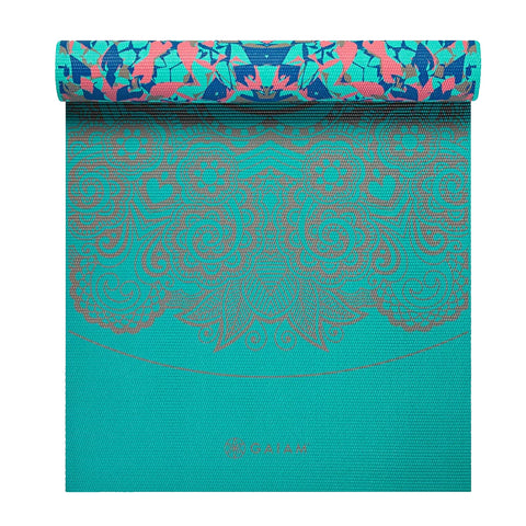 GAIAM 6MM PREMIUM REVERSIBLE KALEI YOGA MAT