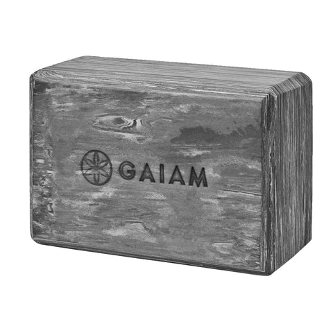 GAIAM MARBLED YOGA BLOCK - GRANITE