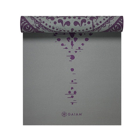 GAIAM 6MM PREMIUM REVERSIBLE BL PRNT MAT