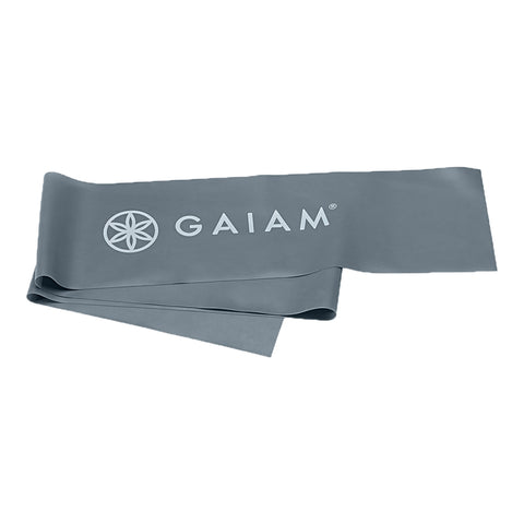 Gaiam Restore Flat Heavy Resistance Exercise Band Grey