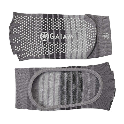 GAIAM MARYJANE YOGA SOCKS S/M GREY/BLACK